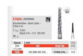 Fraises C162A.316.016 LINDEMANN EDENTA (x3)